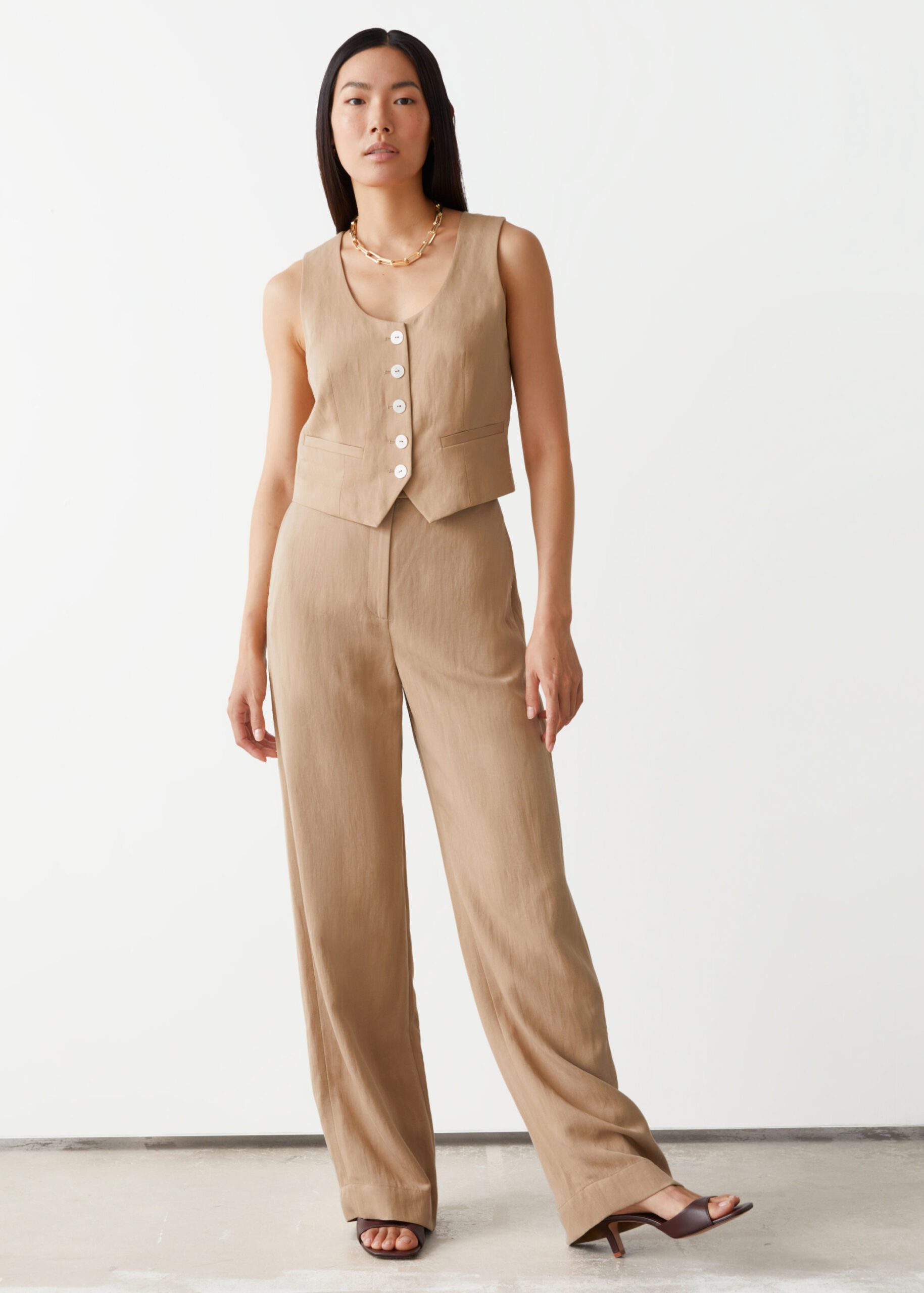 Relaxed Wide Trousers $89