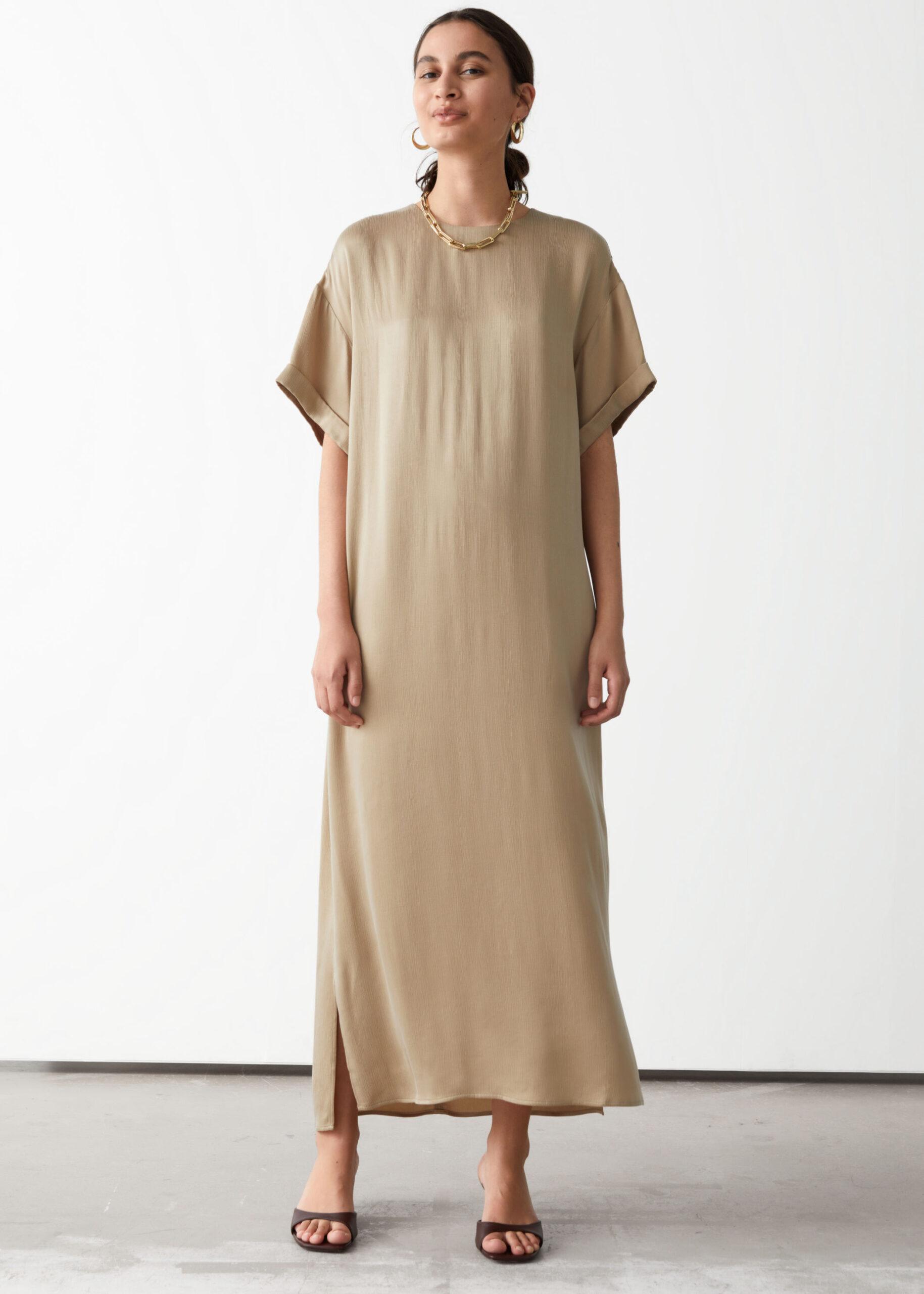 Cupro Maxi Dress $129