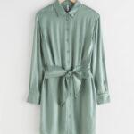 Oversized Belted Mini Shirt Dress $69.99