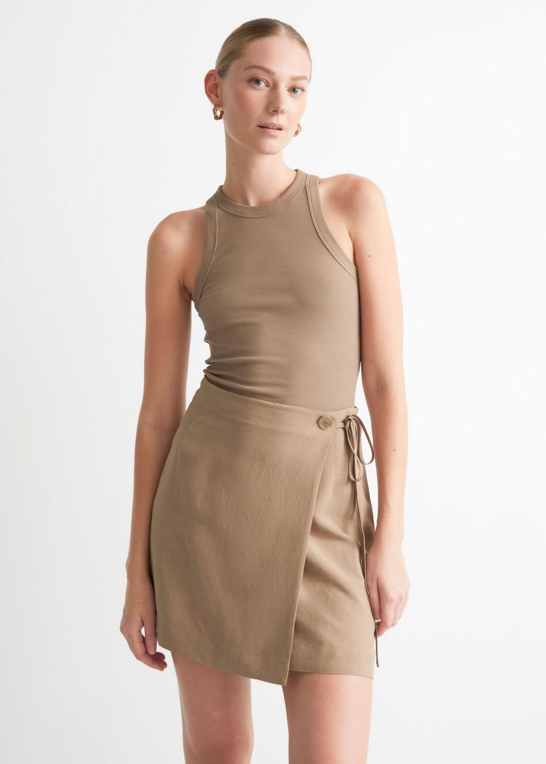 Mini Wrap Skirt $69