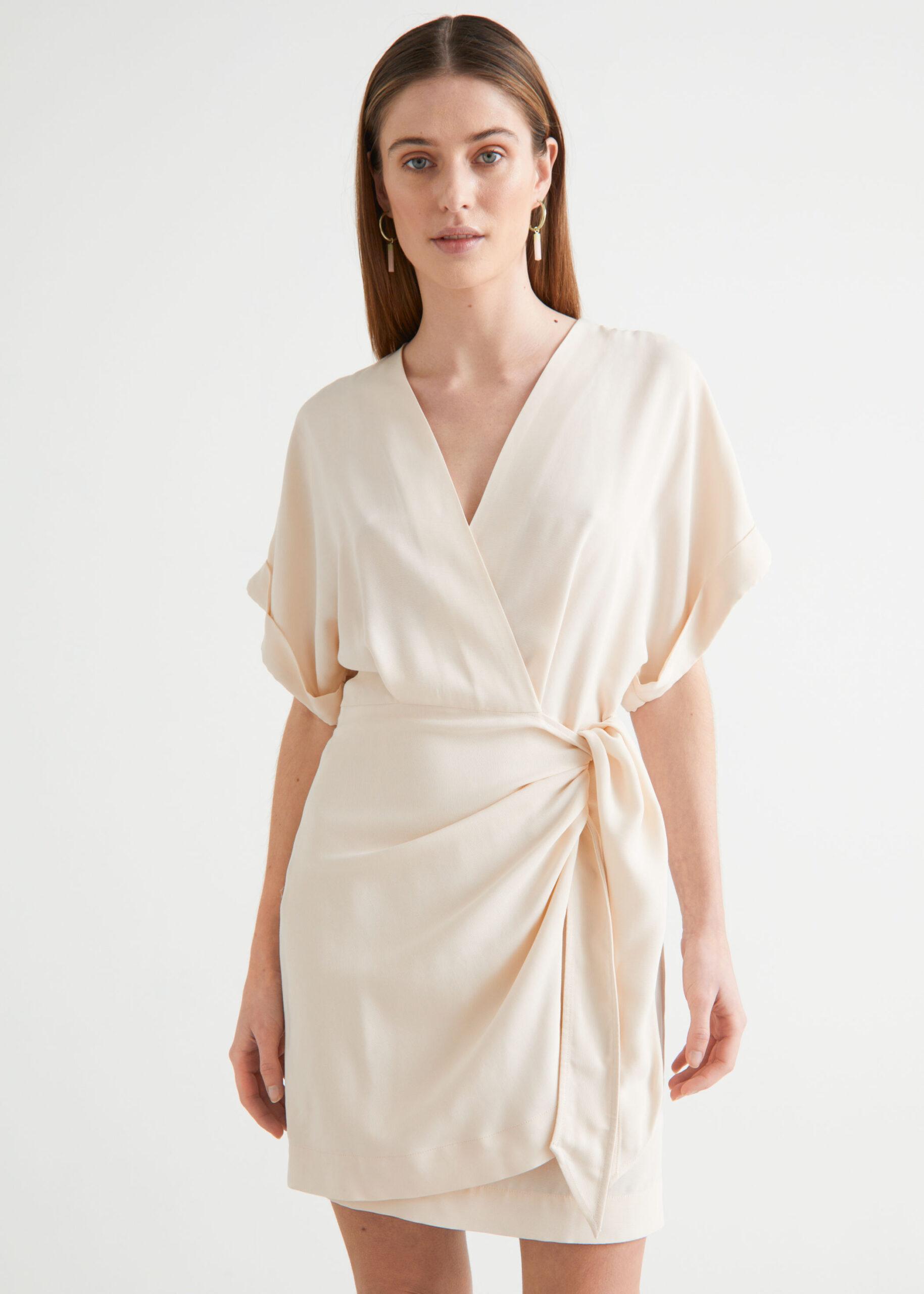 Relaxed Wrap Mini Dress $99