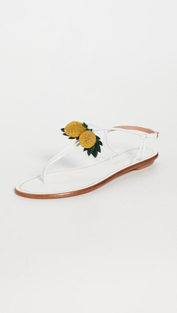 Aquazzura Limoncello Flat Sandals $595.00
