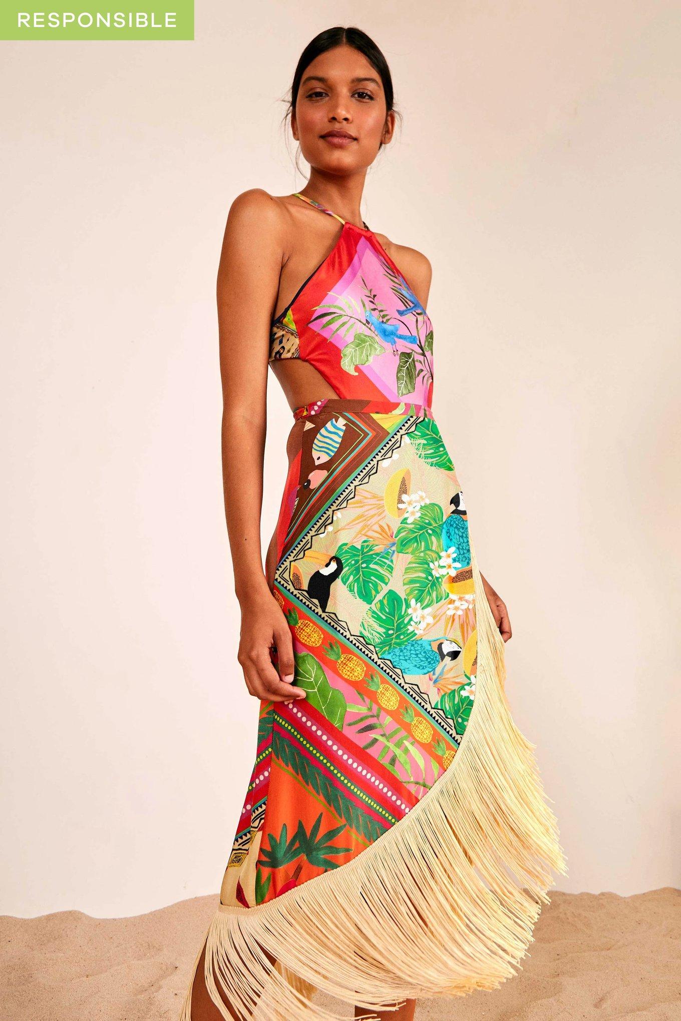 Mix Scarves Summer Wrap Skirt $148.50
