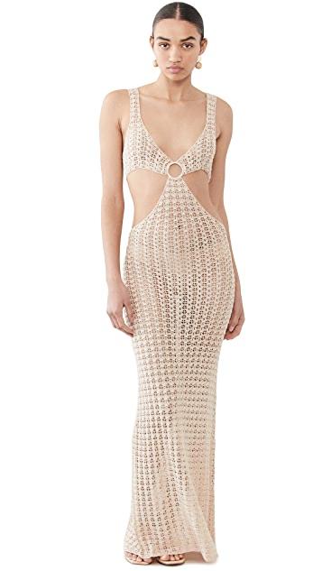 Cult Gaia Tyra Crochet Dress $498.00