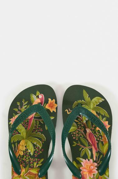 Green Solar Forest Havaianas Sandals $36