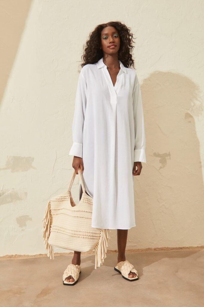 Lyocell-blend Shirt Dress $29.99