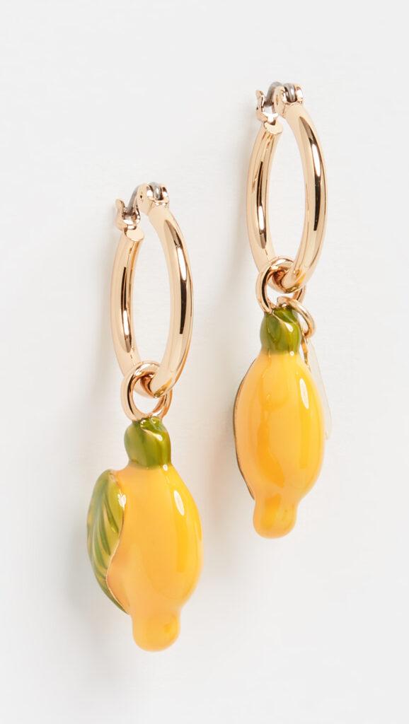 Kenneth Jay Lane Gold Post Hoop Earrings $45.00