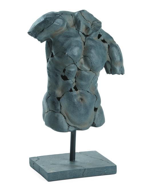 SAGEBROOK HOME Cracked Torso Sculpture $59.99