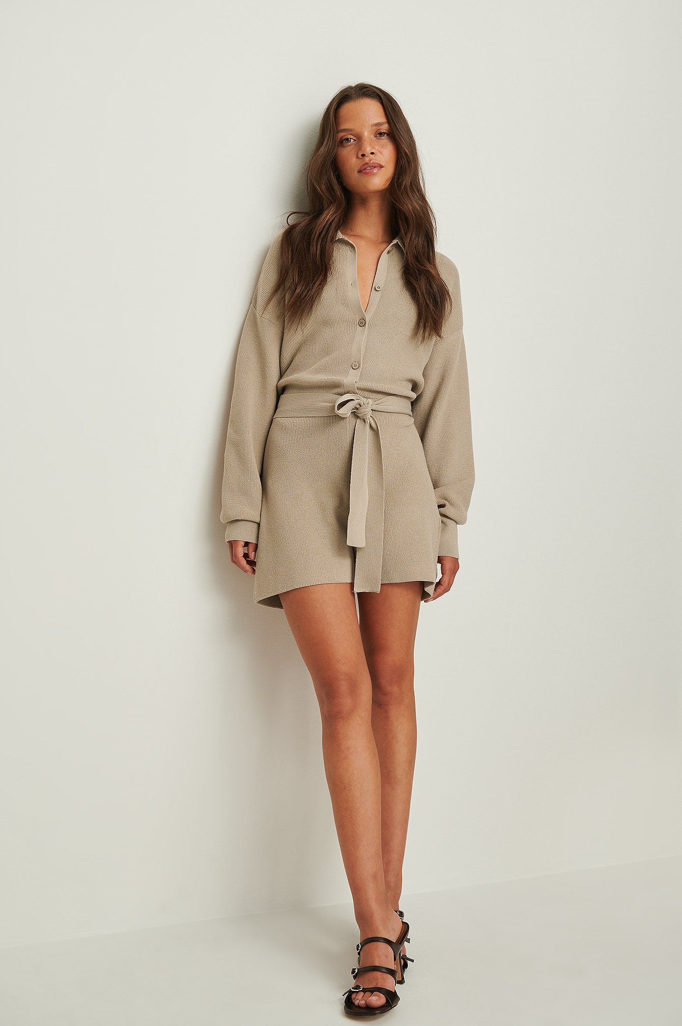 Knitted Belted Playsuit 59.95