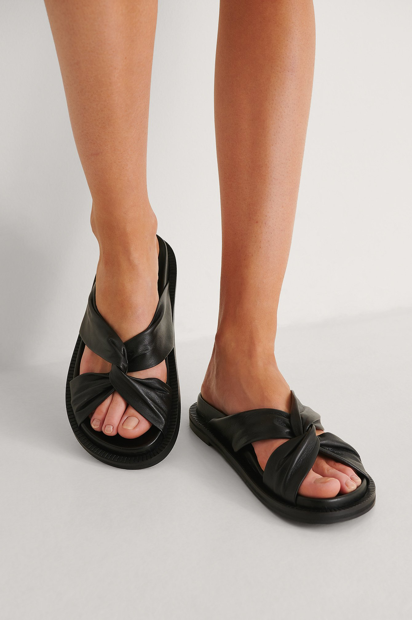 Twisted Leather Slip Ins $71.95