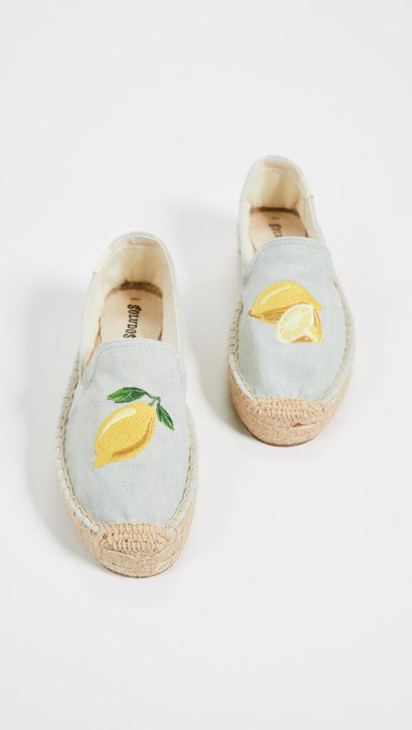 Soludos Lemons Smoking Slippers $75.00