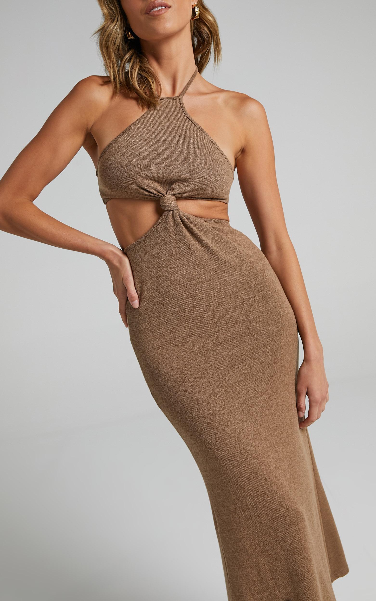 SHANIA DRESS IN BROWN $64.95