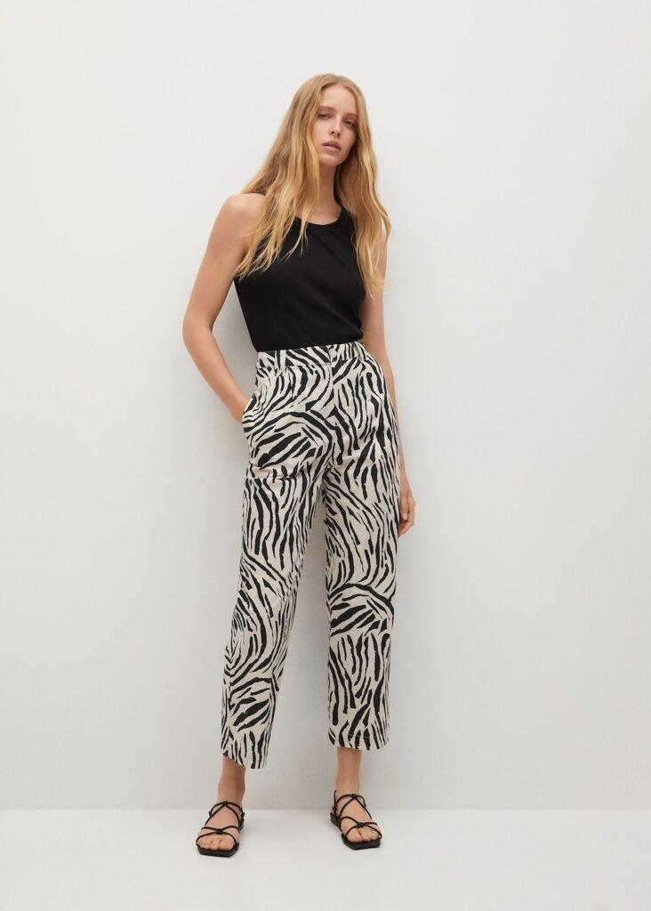 Cotton pleated pants $59.99
