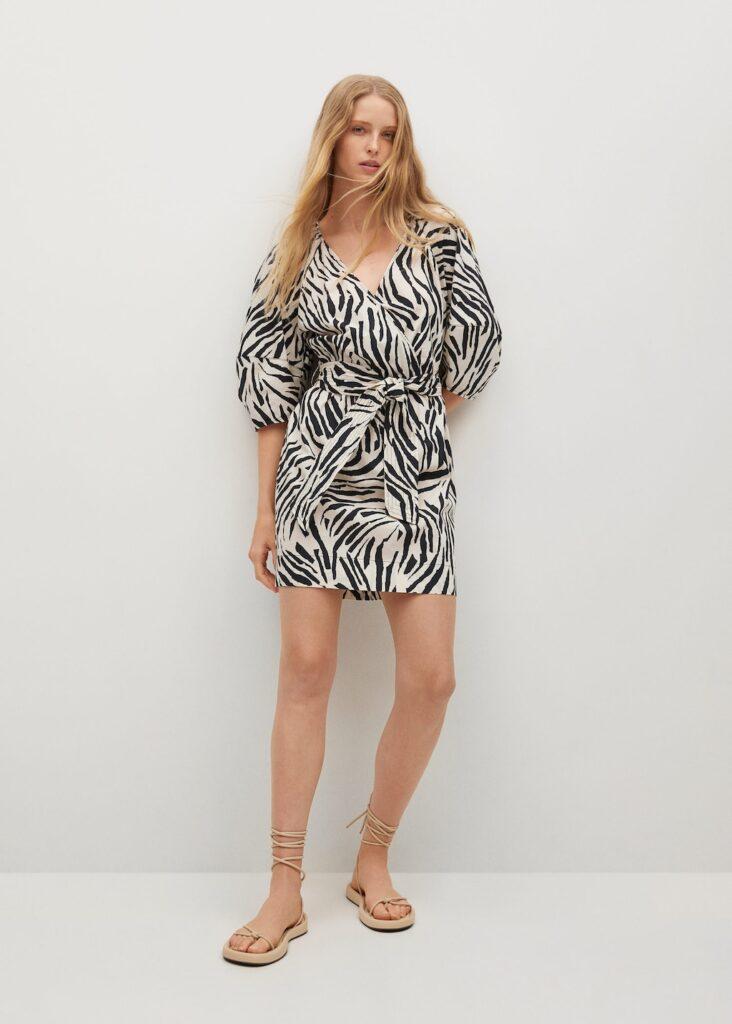 Printed cotton dress $79.99