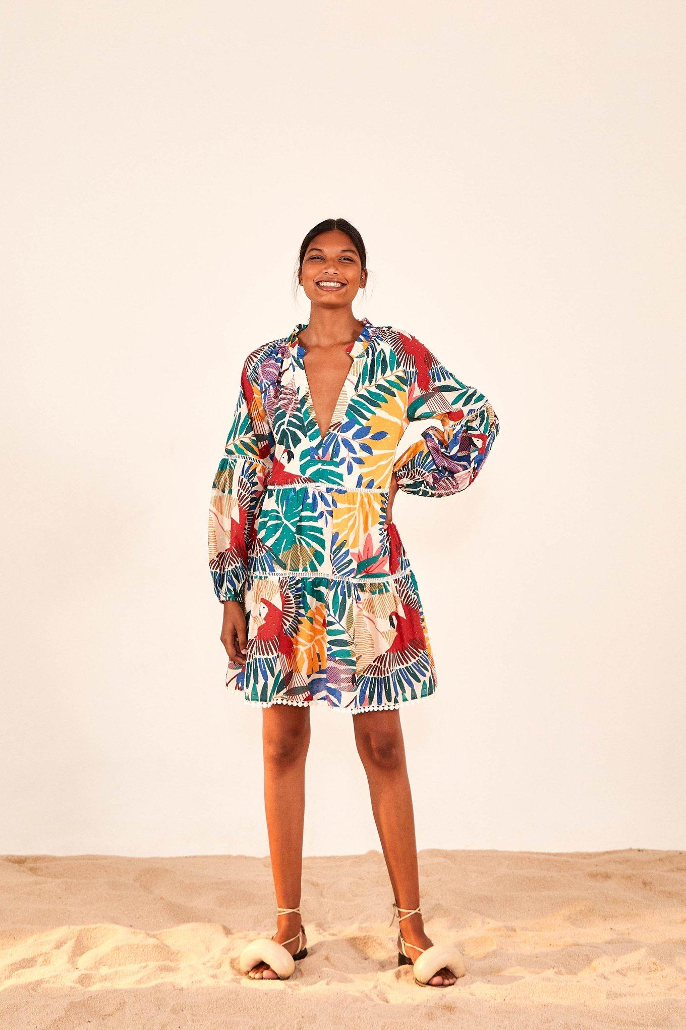 Off White Macaw Mini Dress $160