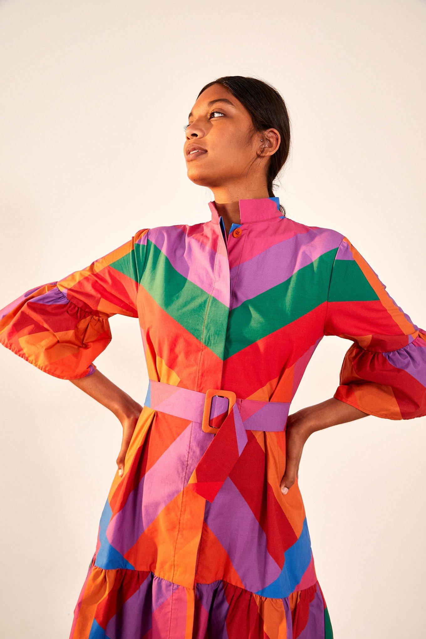 Amanda Stripes Mini Dress $124