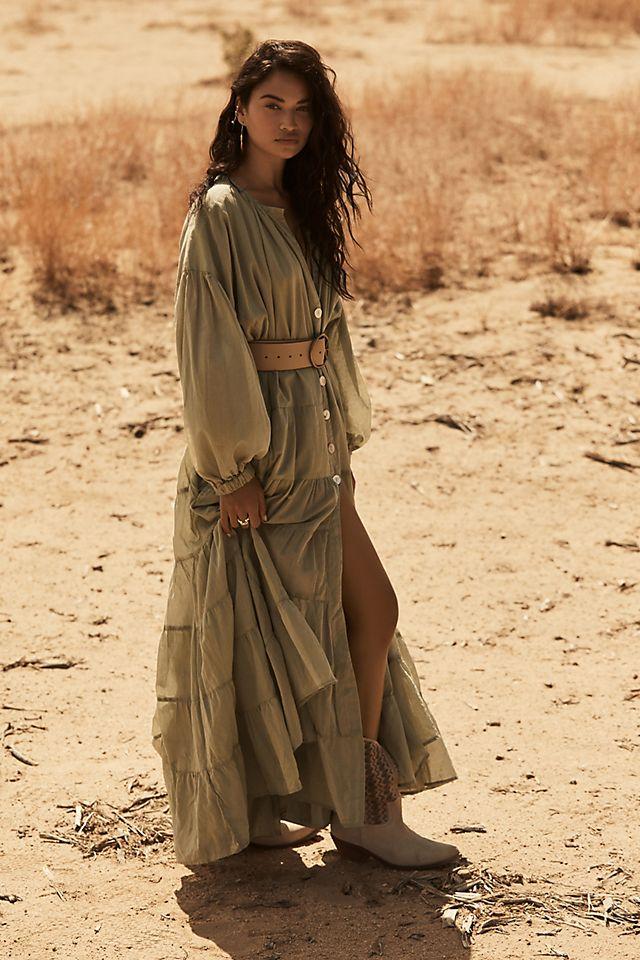Erika Peña Sage Ruffled Maxi Dress $278.00