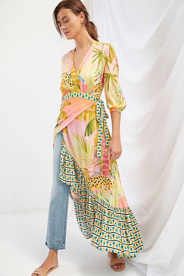 Farm Rio Tropical Wrap Maxi Dress $228.00 – $230.00