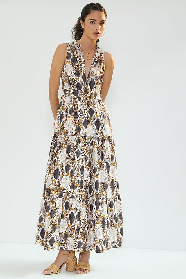 Maeve Snake-Printed Maxi Dress $170.00