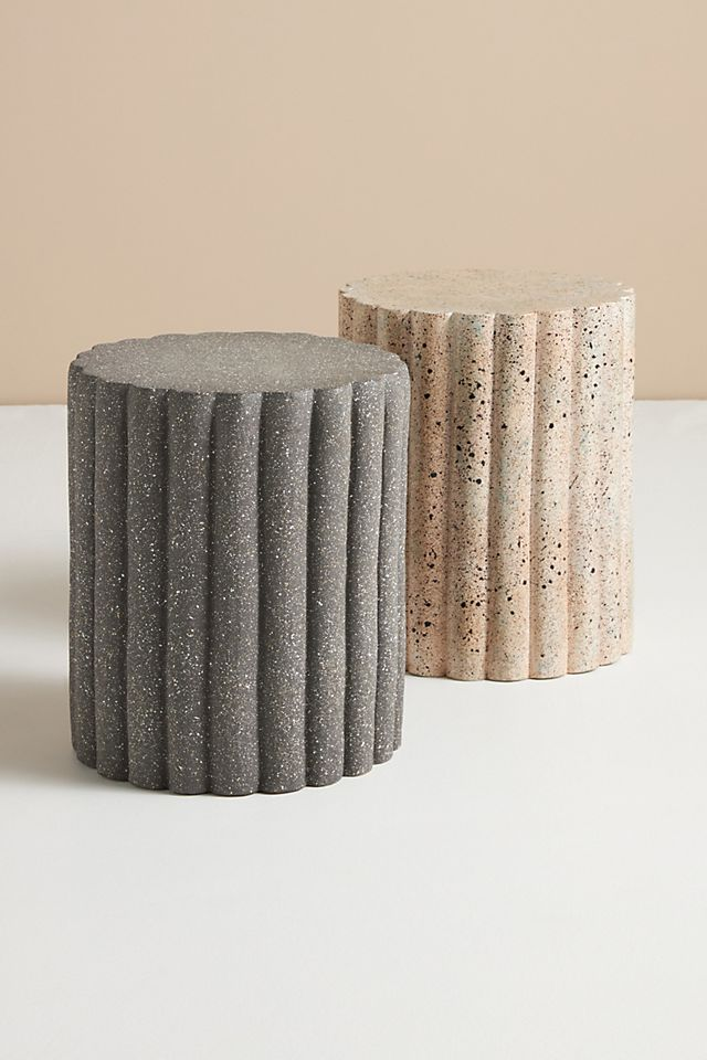 Channel Tufted Ceramic Stool $228.00