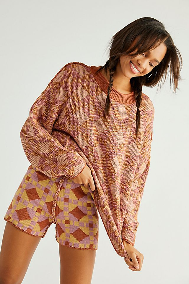 Malibu Pattern Sweater Set $168.00