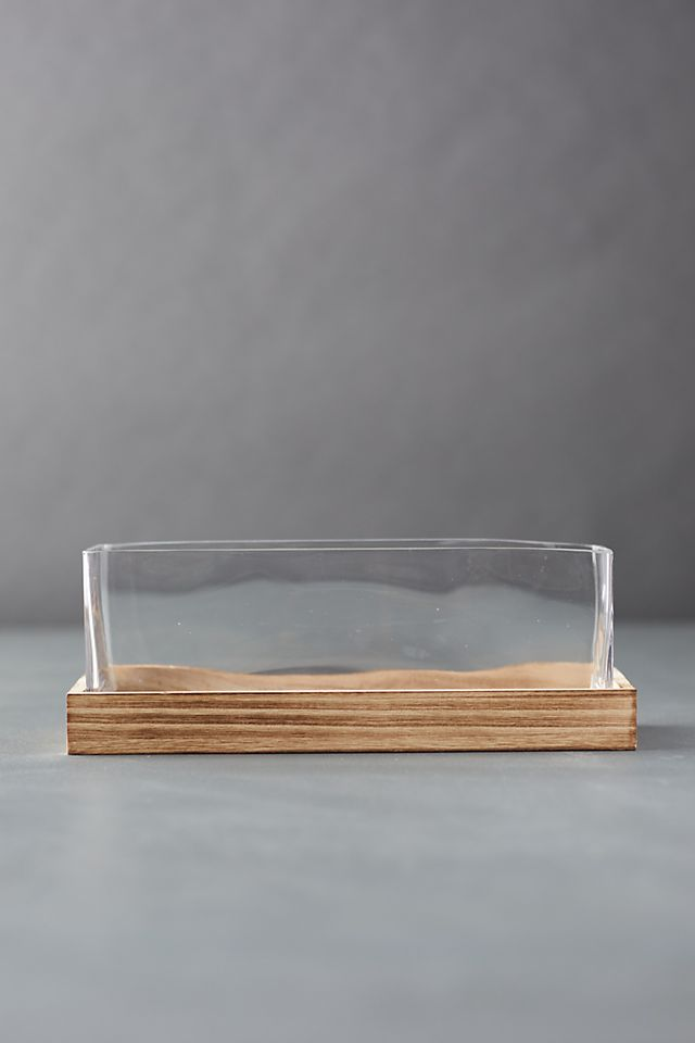 Wood Base Terrarium $58.00