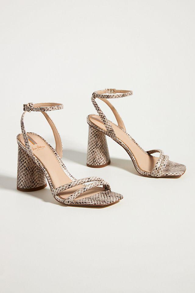Sam Edelman Snake-Printed Heeled Sandals $140.00