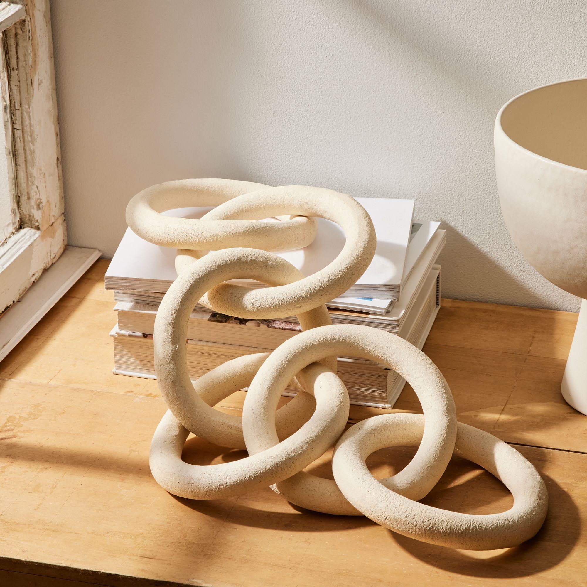 Six Link Ceramic Chain Sculpture $495