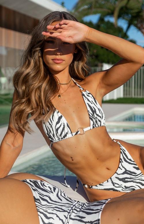 Demi Bikini Top Zebra $34.99