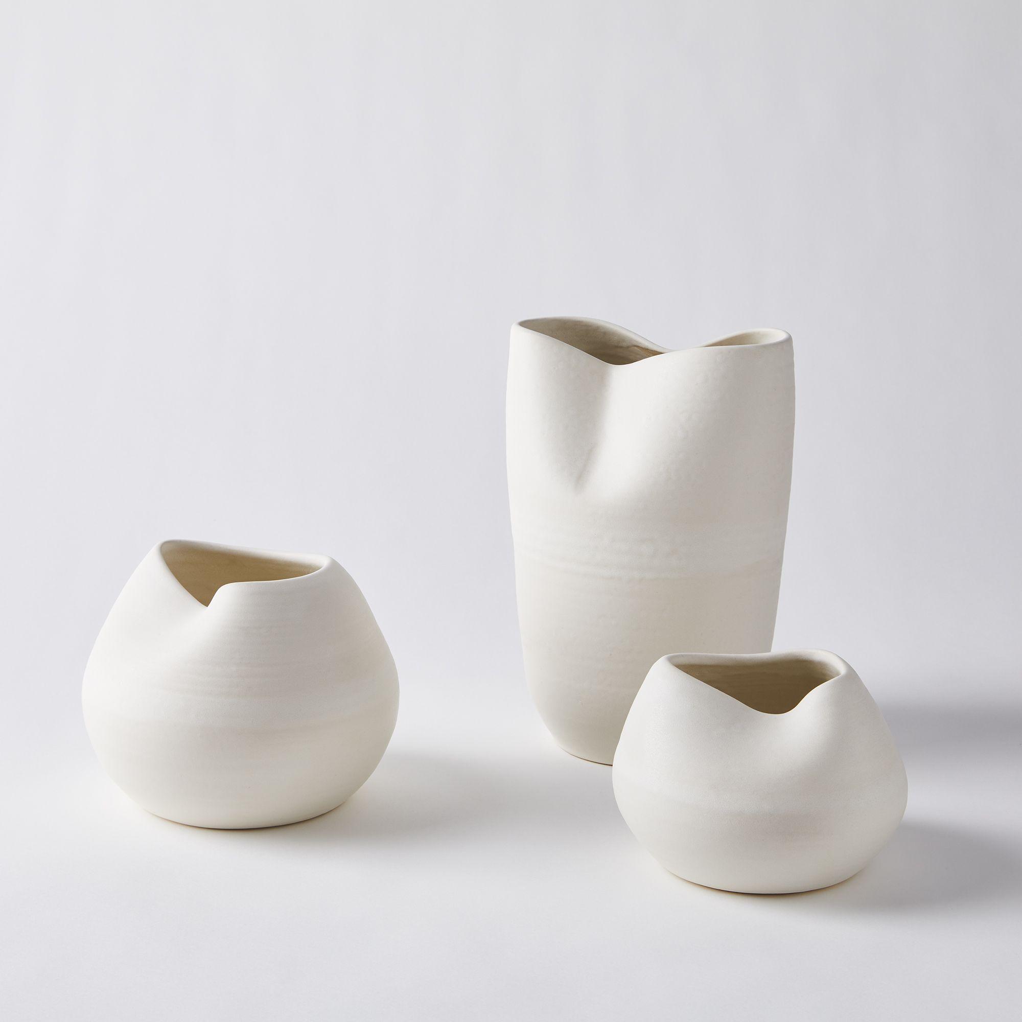 Handmade Ceramic Stella Vases (Set of 3) $660