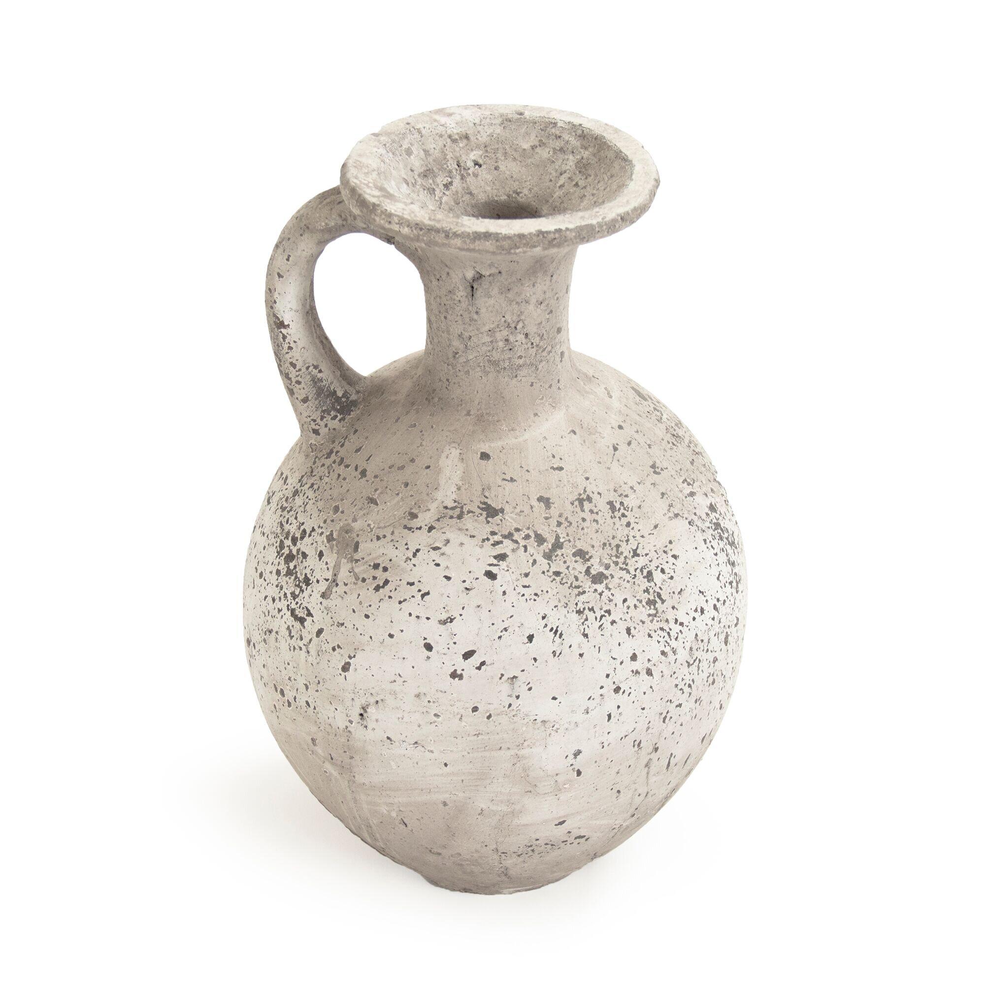 Domagala White 14\'\' Terracotta Jar $66.99