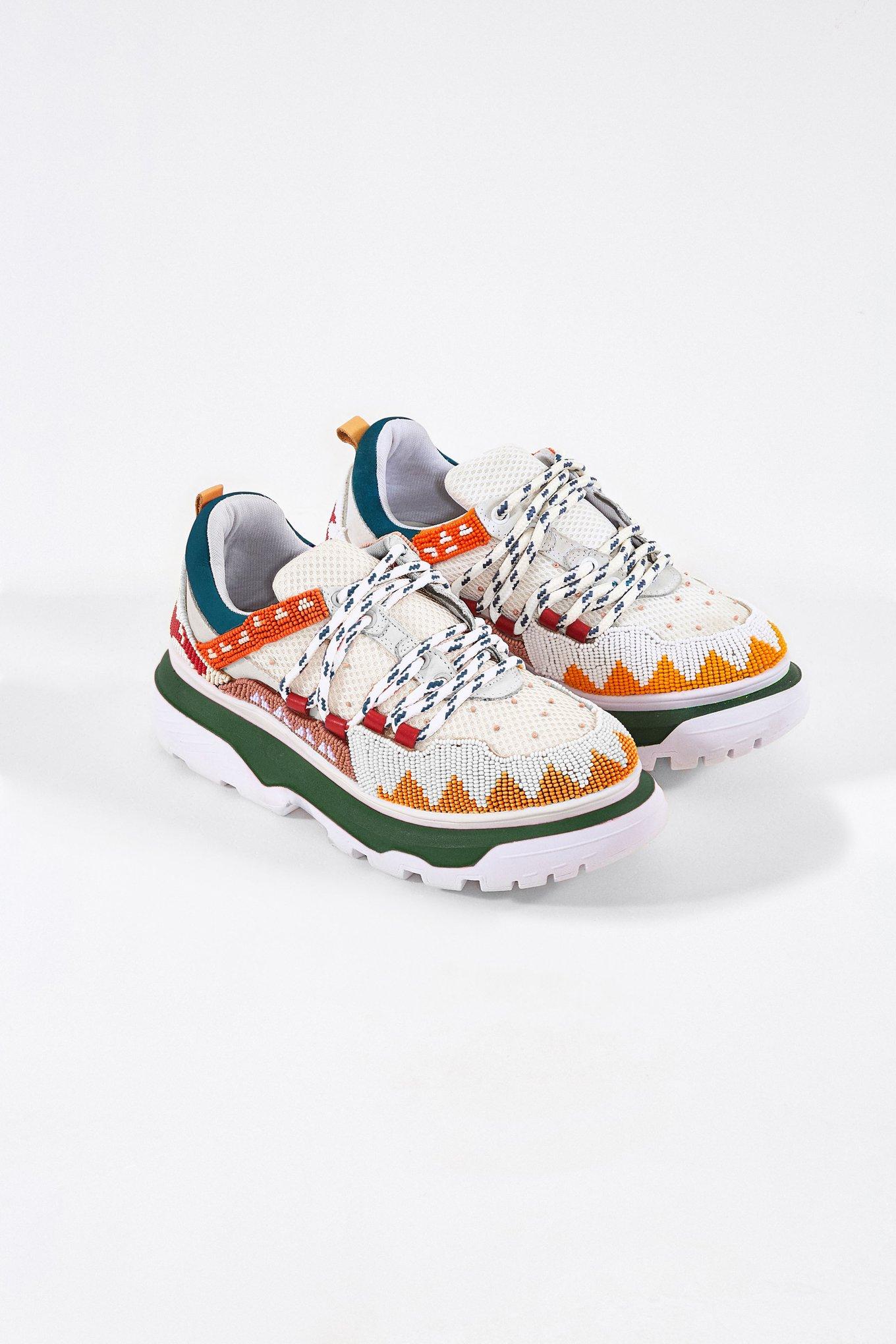 Summer Multi Beaded Sneakers $185