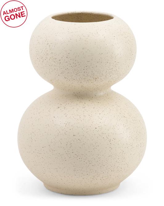 SPORVIL Made In Portugal 12in Round Speckled Vase $29.99