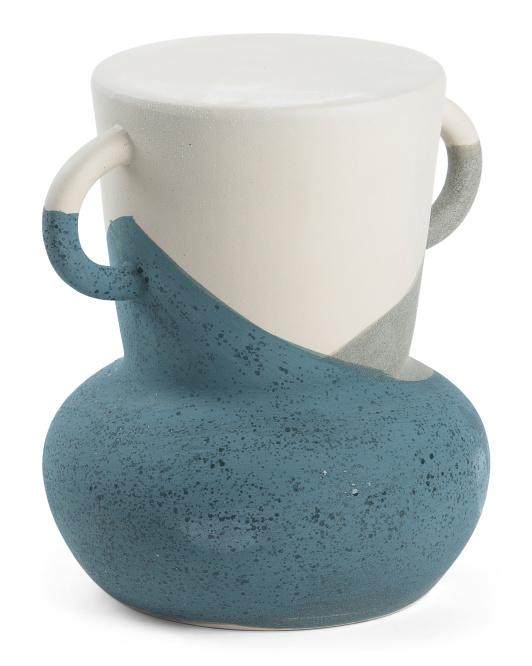 THREE HANDS Ceramic Indoor Outdoor Stool $129.99