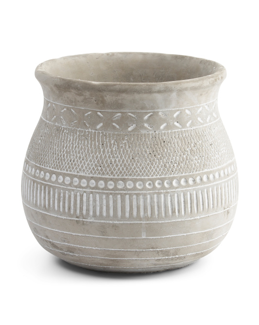 THREE HANDS Tribal Ceramic Planter $16.99