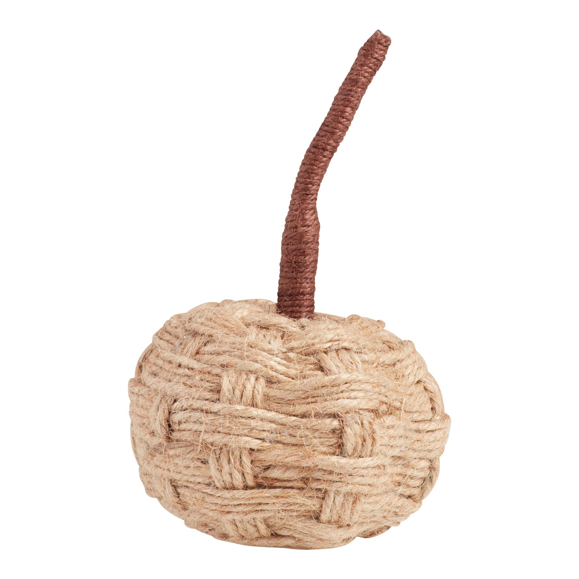 Small Natural Jute Wrapped Pumpkin Decor $4.99