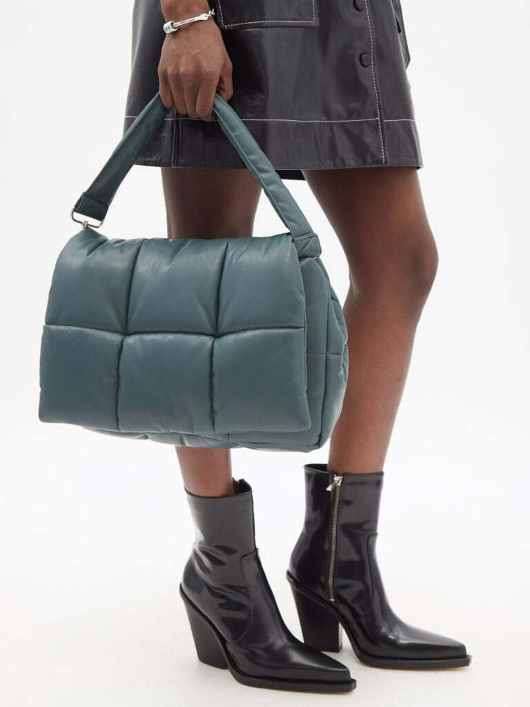 STAND STUDIO Wanda quilted faux-leather shoulder bag $375 https://fave.co/3iaw5UI