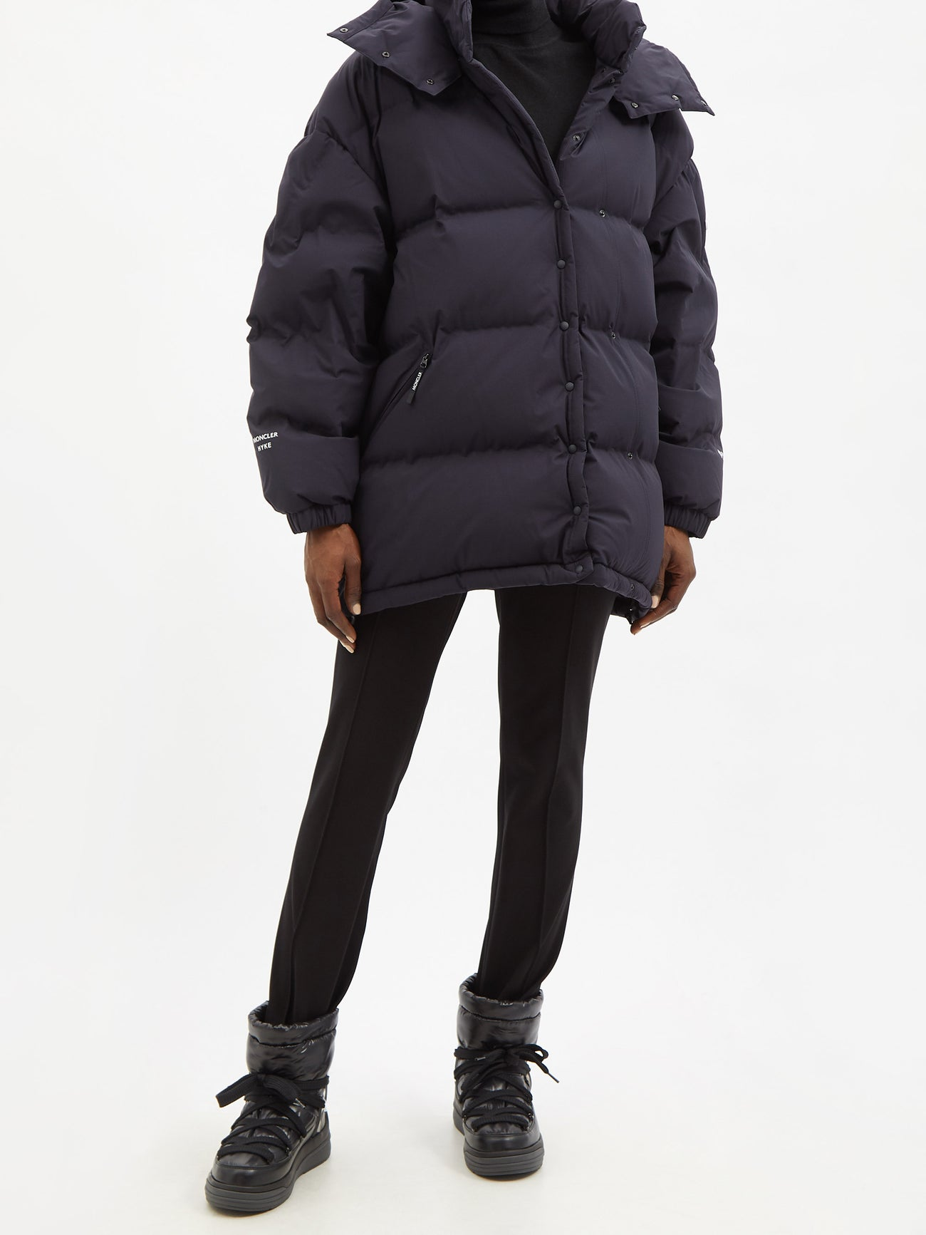 4 MONCLER GENIUS FW21 HYKE Altelsis hooded quilted down jacket $1,489
