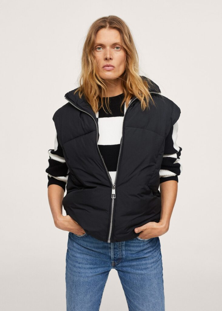 Quilted zipper gilet $79.99