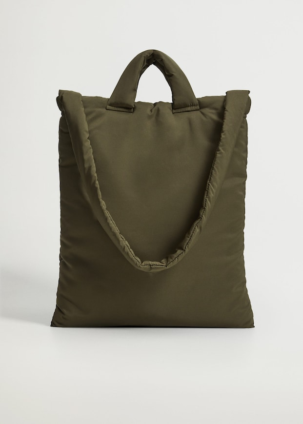 Quilted tote bag $39.99