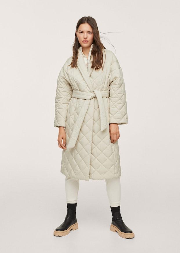 Belt quilted coat $149.99
