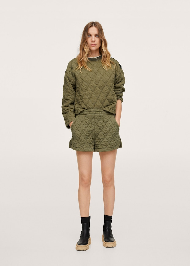 Quilted buttons sweatshirt $59.99