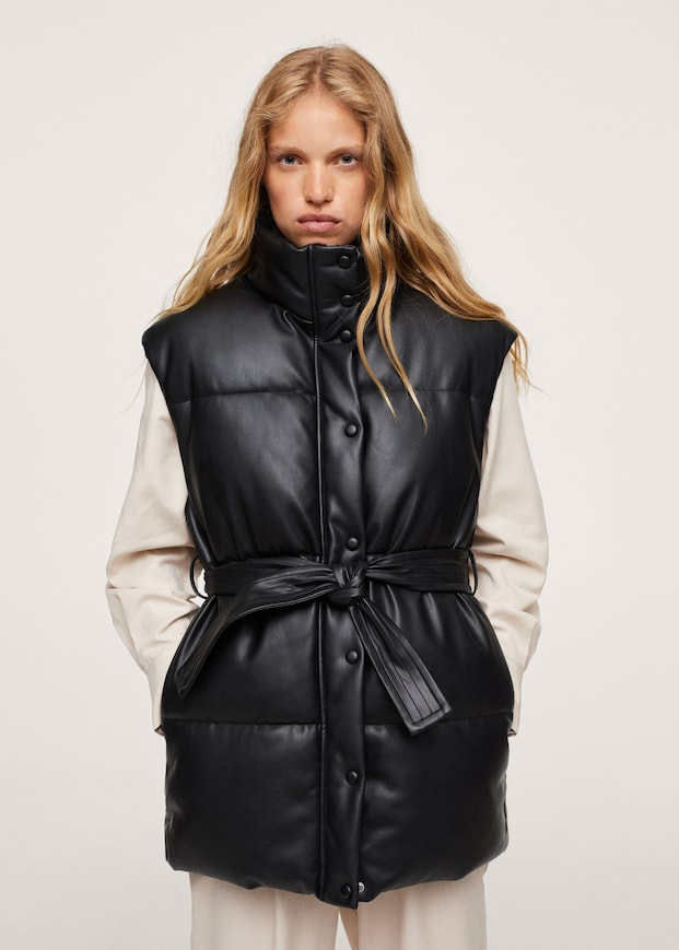 Quilted skin style gilet $119.99