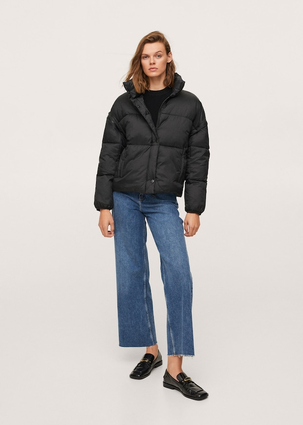 Padded jacket with detachable sleeves $149.99