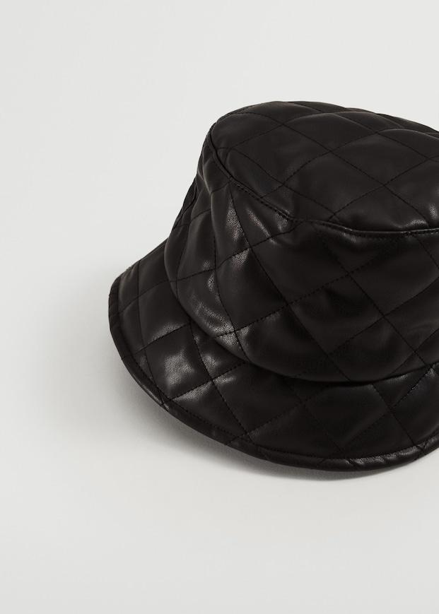 Leather effect bucket hat $29.99