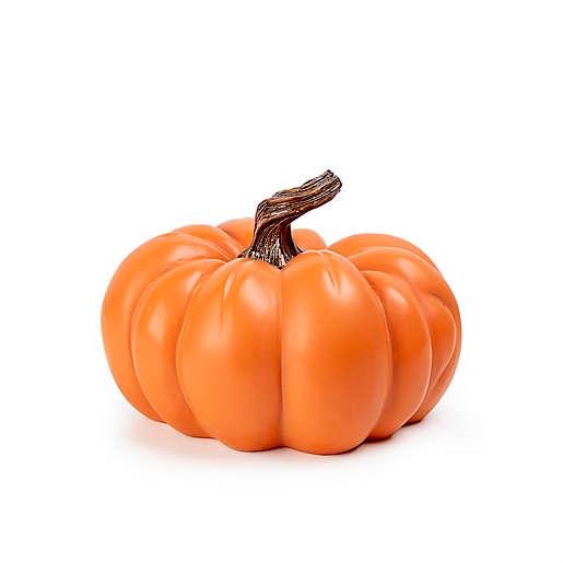 Small Resin Pumpkin Decoration in Orange $15.00