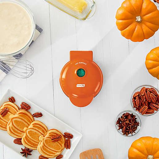 DASH™ Pumpkin Mini Waffle Maker in Orange $9.99