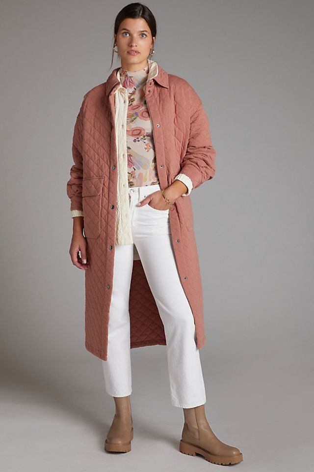 Rose Quilted Coat $198.00