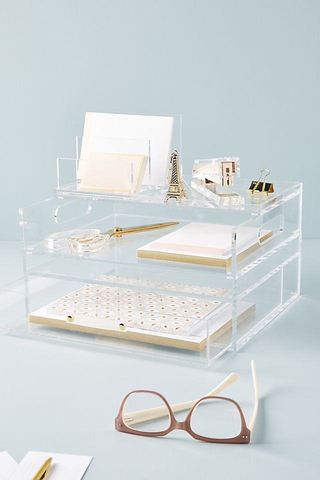Acrylic Bloc Collection Desk Storage $106.00