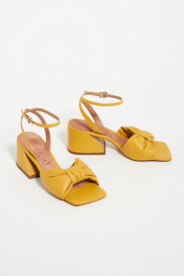 Puffy Knotted Heeled Sandals $109.95